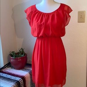Scarlet Colored Sweet Storm Dress